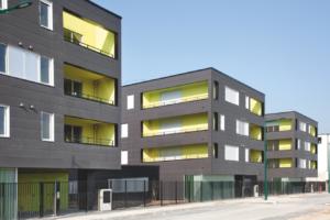 Groupe Sionneau Le Foyer Rémois Reims construction logements bardage clins fibres-ciment
