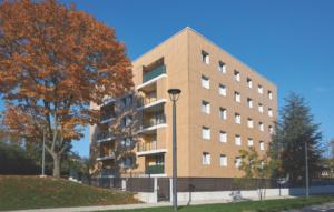 Groupe Sionneau Foyer Rémois Reims renouvellement urbain bardage panneaux stratifiés